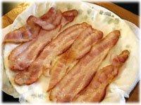 partially cooked bacon