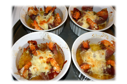 grilled shrimp with garlic and cheese