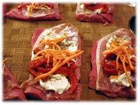 flank steak and veggies