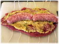 tenderloin stuffed with sausages