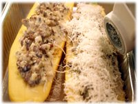 stuffed zucchini with cheese