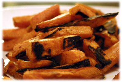 how to cook sweet potato fries on the grill