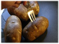 piercing potato