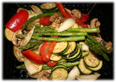 vegetables grilled