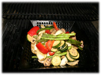 grilled vegetable wok